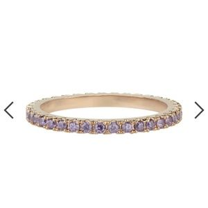 Febuary purple gold petite bijoux stackable